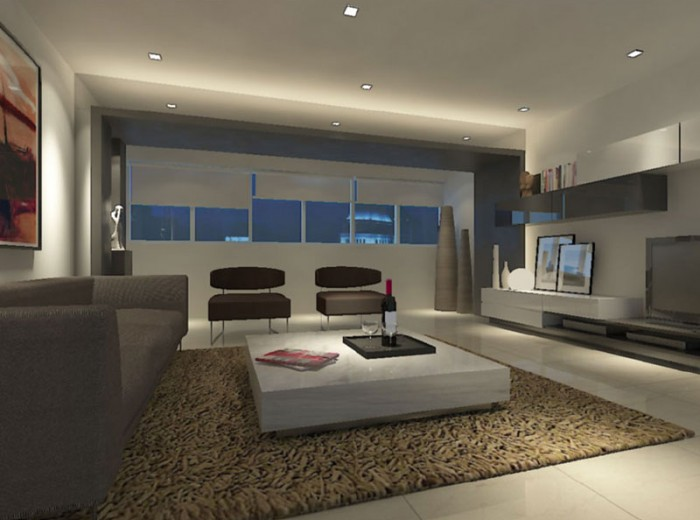 Residences (Interior Design) - LivingRoom 2