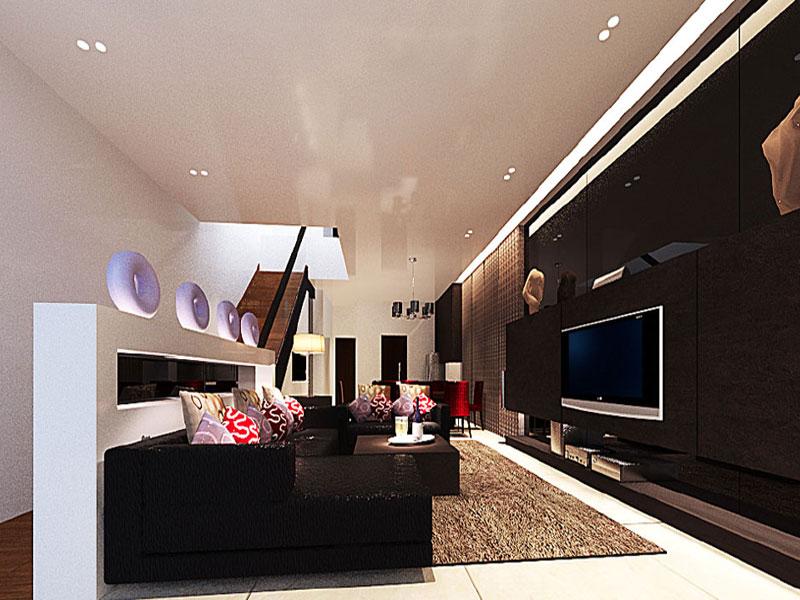 Residences interior design livingroom 6 office for Living room interior design singapore