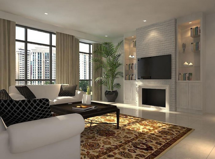 Residences (Interior Design) - LivingRoom 9