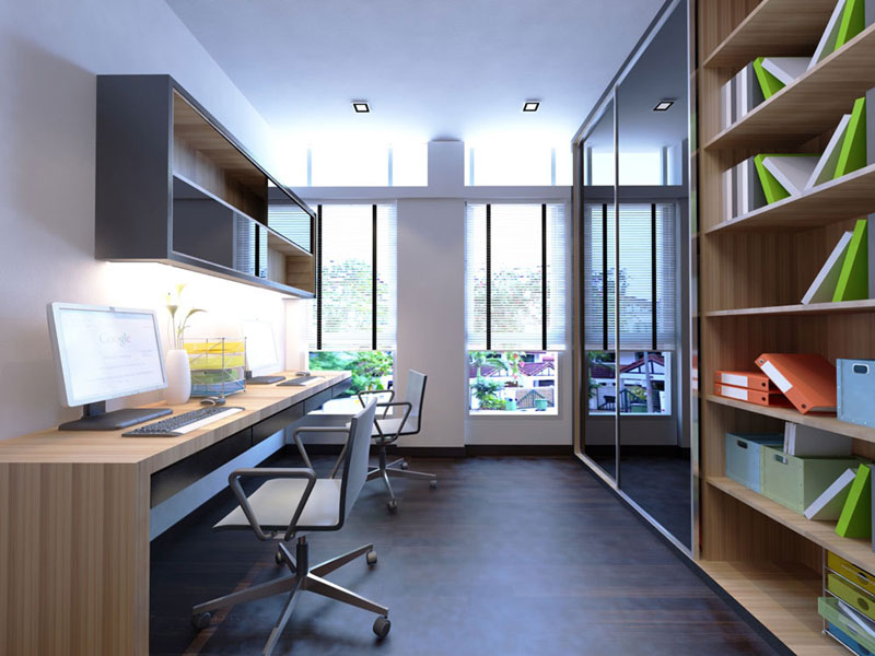 Residences interior design study room 1 office renovation singapore ish interior design for Best place to study interior design