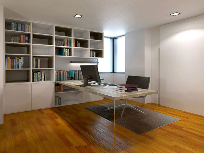 Residences interior design study room 2 office renovation singapore ish interior design - Study room furniture designe ...
